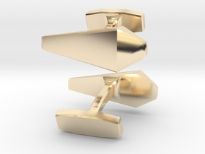 James Bond Cufflinks in 14k Gold Plated Brass