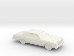 1/72 1977 Ford LTD Sedan in White Natural Versatile Plastic