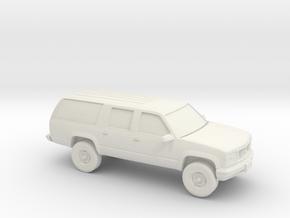 1/100 1999 GMC Suburban in White Natural Versatile Plastic