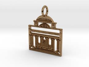 Columbia Pendant in Natural Brass