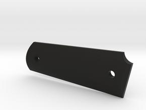 CUSTOM Colt 1911A1 left grip v. I in Black Natural Versatile Plastic
