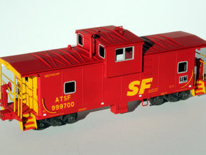 EV Body ATSF CE-8/CE-11 in Smooth Fine Detail Plastic