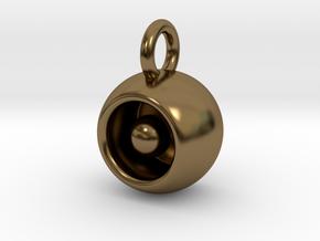Levitation Sphere Pendant in Polished Bronze