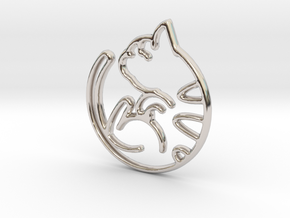 Kitty Cat Pendant in Platinum