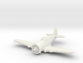 Curtiss P-36 'Hawk' in White Strong & Flexible: 1:200