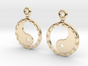 YinYang EarRings 2 - Pair - Precious Metal in 14K Yellow Gold