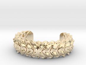 Hard Shred Cuff bracelet   Narrow  in 14k Gold Plated Brass: Medium