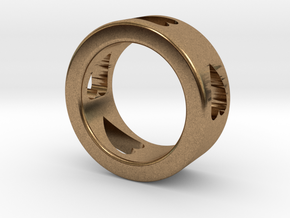 LOVE RING Size-5 in Natural Brass