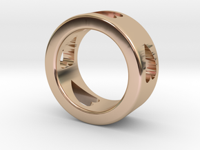 LOVE RING Size-5 in 14k Rose Gold