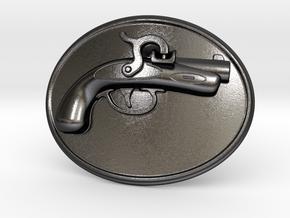 Philadelphia Derringer Belt Buckle in Polished and Bronzed Black Steel
