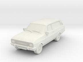 1:87 Escort mk 2 2 door estate hollow in White Natural Versatile Plastic