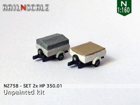 SET 2x HP 350.01 (N 1:160) in Smooth Fine Detail Plastic