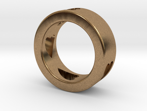 LOVE RING Size-7 in Natural Brass