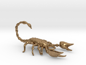 scorpion pendant in Natural Brass