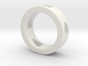 LOVE RING Size-9 in White Natural Versatile Plastic