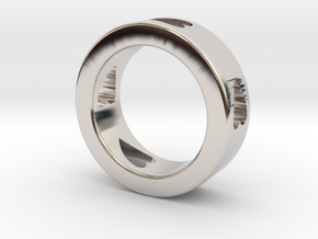 LOVE RING Size-10 in Rhodium Plated Brass