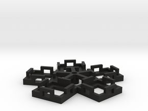 Flight Stand - 5 Dice in Black Natural Versatile Plastic
