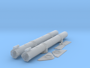 1/32 Torpedo Tubes (forward) for PT Boats in Frosted Ultra Detail