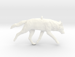 Trotting wolf in White Strong & Flexible Polished