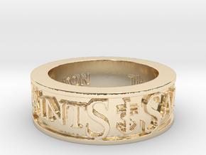 Saints Member Ring Size 12.5 in 14K Yellow Gold