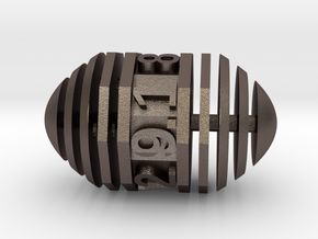 d9 Pill Interrupted in Polished Bronzed Silver Steel