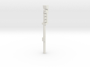Leeds Signal P10 End Plat in White Natural Versatile Plastic