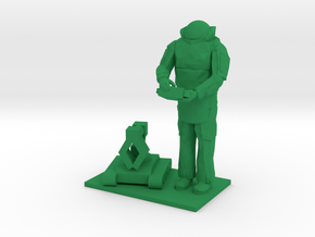 Explosive Ordinance Disposal, EOD w Robot, 1/64 in Green Processed Versatile Plastic