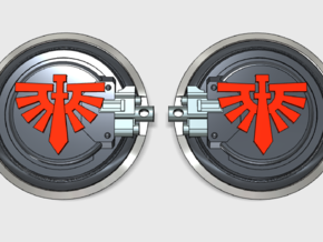 10x Angel Legion - Aggressor:2 combat shields in Smooth Fine Detail Plastic