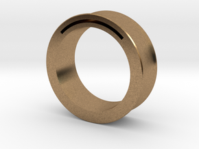 Simple Band-Nfc-Rfid Ring in Natural Brass