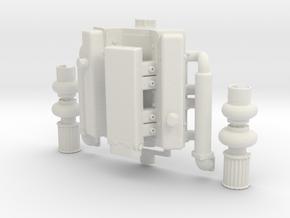 Twin Turbo V8 1/10 Scale Drift RC in White Natural Versatile Plastic