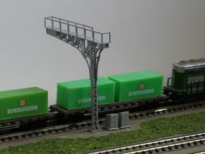 N Scale 2x ATSF Style Cantilever in Smooth Fine Detail Plastic