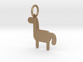 Horse Keychain in Matte Gold Steel