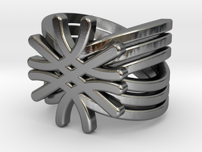 Quantum Wave Ring in Polished Silver