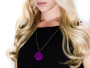 Caged sphere pendant in Purple Strong & Flexible Polished