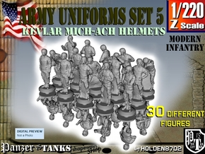 1-220 Army Modern Uniforms Set5 in Smoothest Fine Detail Plastic