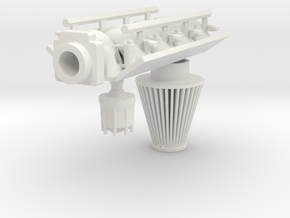 FAST Intake LS3 1/12 in White Strong & Flexible