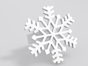 Snowflake Ring Size 7 in White Natural Versatile Plastic