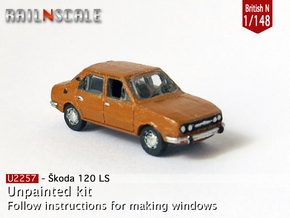 Skoda Estelle 120 LS (British N 1:148) in Smooth Fine Detail Plastic