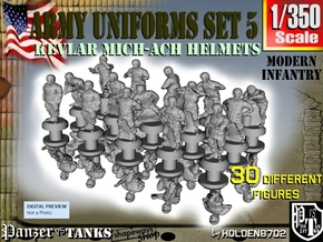 1-350 Army Modern Uniforms Set5 in Smoothest Fine Detail Plastic