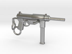 Submachine Gun M3 in Natural Silver