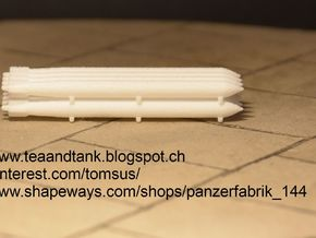 1/144 Set Of GermanTorpedos for submarines in White Natural Versatile Plastic