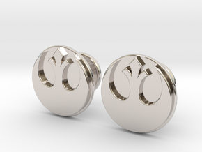 Rebel Alliance Cufflinks in Rhodium Plated Brass