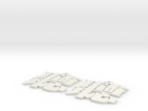 Ting Earrings in White Natural Versatile Plastic