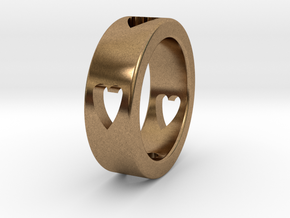 LOVE RING Size-11 in Natural Brass