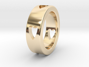 LOVE RING Size-11 in 14K Yellow Gold