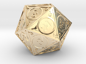 D20 Dakin in 14k Gold Plated Brass