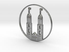 Zurich Pendant in Natural Silver