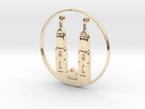 Zurich Pendant in 14k Gold Plated Brass