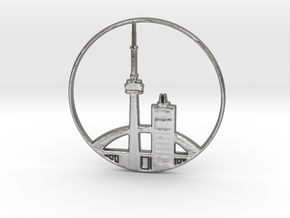 Toronto Pendant in Natural Silver