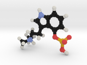 Psilocybin Molecule Model in Full Color Sandstone